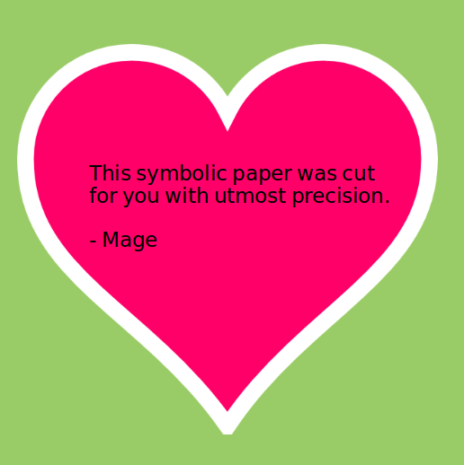 """""""this symbolic paper was cut for you with utmost precision"""" - Mage"""